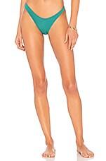 KENDALL + KYLIE High Cut Bikini Bottom in Dusty Jade
