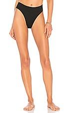 KENDALL + KYLIE High Waist Bikini Bottom in Black