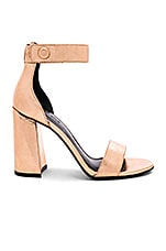 KENDALL + KYLIE Jewel Sandal in Rose Gold Foil Crinkle
