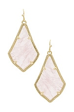 Kendra Scott Alex Earring in Rose Quartz & Gold