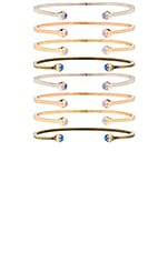Kriss Set Of 8 Bracelet in Gold, Rhodium, Rose Gold, Antique Brass & Dichroic Glass
