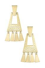 Kendra Scott Kase Small Statement Earrings in Gold