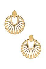 Kendra Scott Didi Sunburst Drop Earrings in Vintage Gold