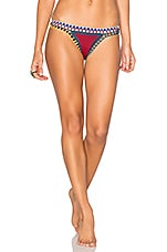 KIINI Soley Bikini Bottom in Red & Multi