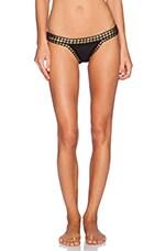 KIINI Chacha Bikini Bottom in Black & Gold