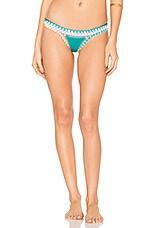 KIINI Liv Bikini Bottom in Jade & Multi