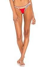 KIINI KAIA Bikini Bottom in Red