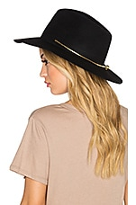Birkin Gold Collar Hat in Black