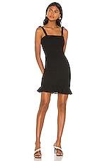 krisa Smocked Tank Mini Dress in Black