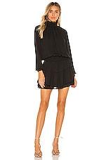 krisa X REVOLVE Smocked Turtleneck Dress in Black