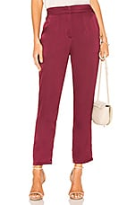 krisa Smocked Back Trouser Pant in Imperial