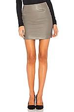 krisa Mini Skirt in Taupe