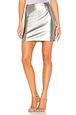krisa Mini Skirt in Platinum