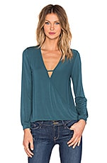 TOP MANCHES LONGUES LONG SLEEVE SURPLICE