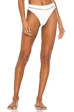 KYA Laguna Reversible Bikini Bottom in Shell & Black