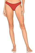 KYA Catalina Reversible Bikini Bottom in Scarlet & Shell