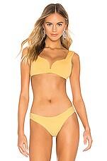 KYA Carmela Reversible Bikini Top in Sunset & Shell