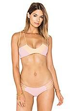 KAOHS Coco Bikini Top in Blush & Peach