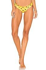 KAOHS Salty Reversible Bikini Bottom in Rose Bud & Sun