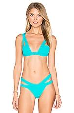 Logan Bikini Top in Turquoise
