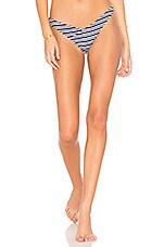 KOPPER & ZINK Hugo Bikini Bottom in Navy Stripe