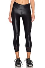 Sky Scraper Echo Crop Legging in Black
