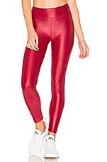 KORAL Lustrous High Rise Legging in Red