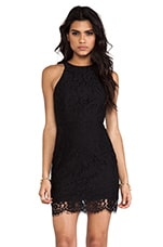 Almost Over Dress in Black Lace