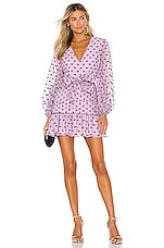 keepsake Call Me Mini Dress in Lilac Spot