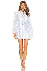 keepsake Guardian Mini Dress in Sky Blue Stripe