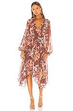 keepsake Unravel Midi Dress in Chocolate Lily