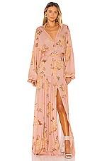 keepsake Forever Maxi Dress in Tan Gardenia