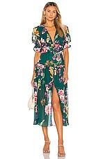 keepsake About Us Midi Dress in Jade Botanic Floral