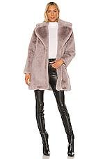 keepsake Stella Faux Fur Coat in Dove Grey
