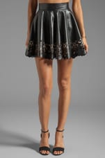 Pretty Young Thing Skirt in Black/Nude
