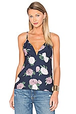 Up For Air Top en Navy Floral