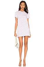 Kule The Tee Dress in White & Lilac