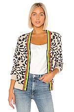 Kule The Cat Cardigan in Leopard Multi