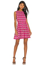Kenzo All Over Rice Bag Dress in Deep Fuchsia
