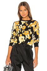 Kenzo Peonie Jacquard Pullover in Marigold
