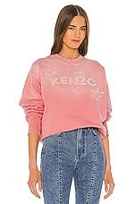 Kenzo Bubble Pearls Sweatshirt in Flamingo Pink
