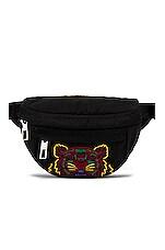 Kenzo Canvas Tiger Belt Bag in Black
