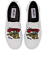 Kenzo Jumping Tiger Skate Sneakers in White