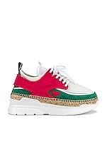 Kenzo K-Lastic Low Top Sneaker in Coral