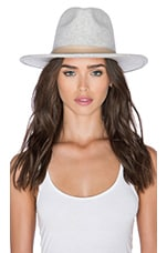 Lack of Color The Mack Hat in Light Speckled Grey & Nude Leather