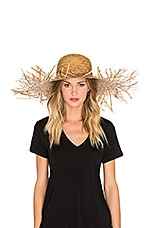 Lack of Color The Russo Wide Brimmed Hat in Sunflower Straw