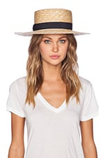 The Spencer Boater Hat in Natural Straw