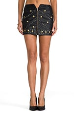 x REVOLVE Rattlesnake Skirt in Black