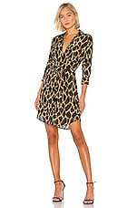L'AGENCE Stella Shirt Dress in Sienna Safari