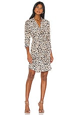 L'AGENCE Stella Short Shirt Dress in Abstract Quartz Multi